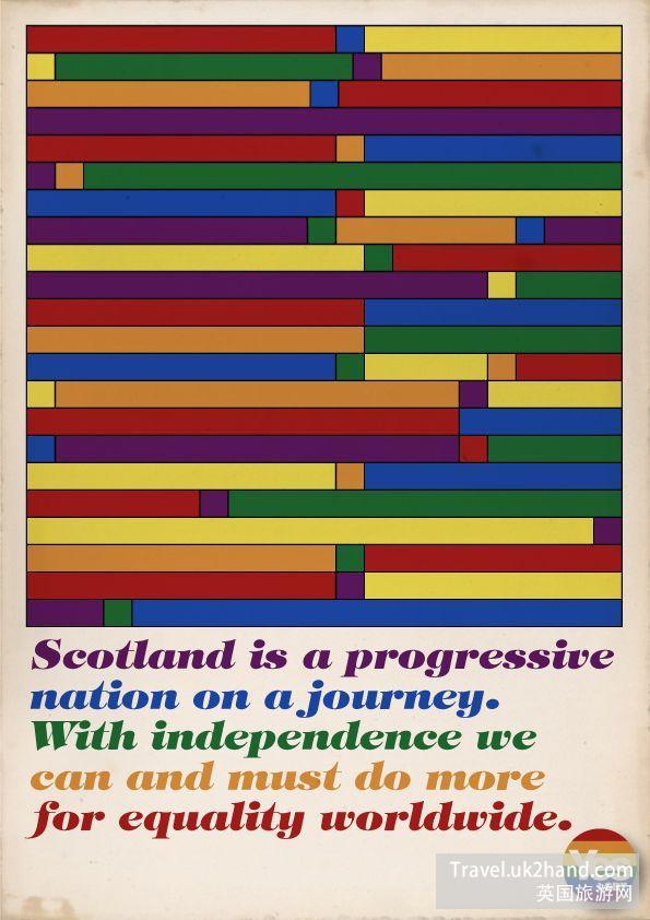 这还是一张支持苏格兰独立的海报(下面的全部都是),不仅文艺,还有二手商店的复古风格。