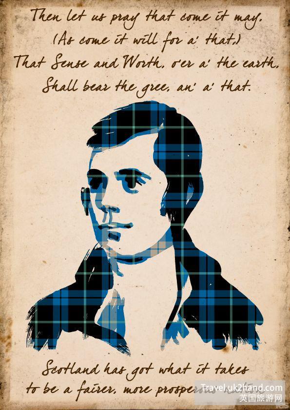 文青的鼻祖罗伯特·彭斯就是苏格兰人!这张海报就发表了一首他的诗。