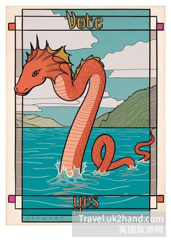 尼斯湖水怪支持独立,而且还很文艺。