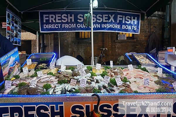 英国新鲜的渔产