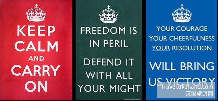 英国二战时期的不同海报