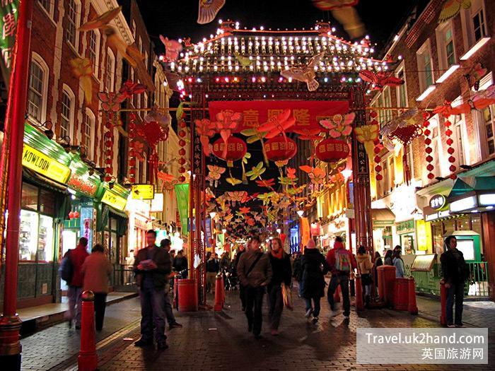 春节的唐人街,伦敦