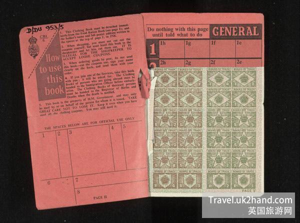 英国二战时期的配给手册