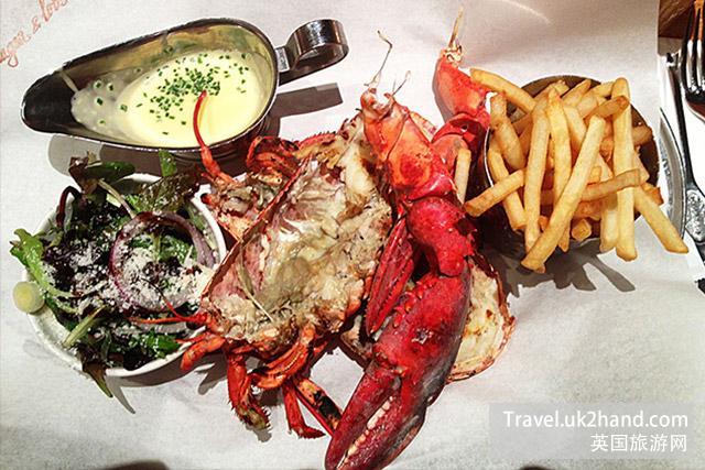 龙虾大餐在伦敦