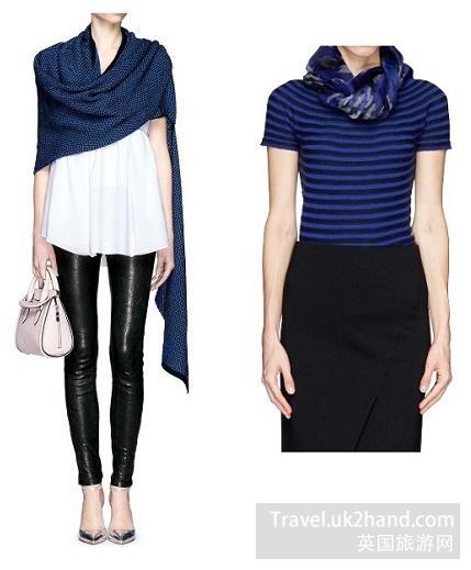 围巾不同材质的搭配