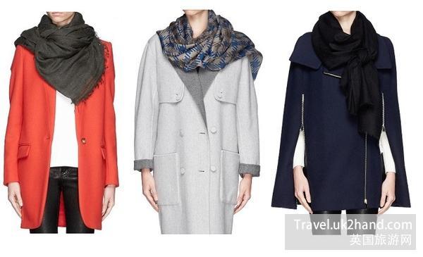 围巾搭配大衣