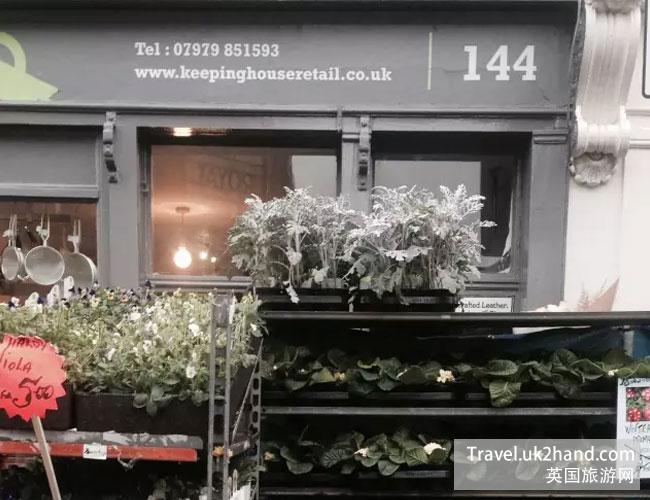 伦敦的花市