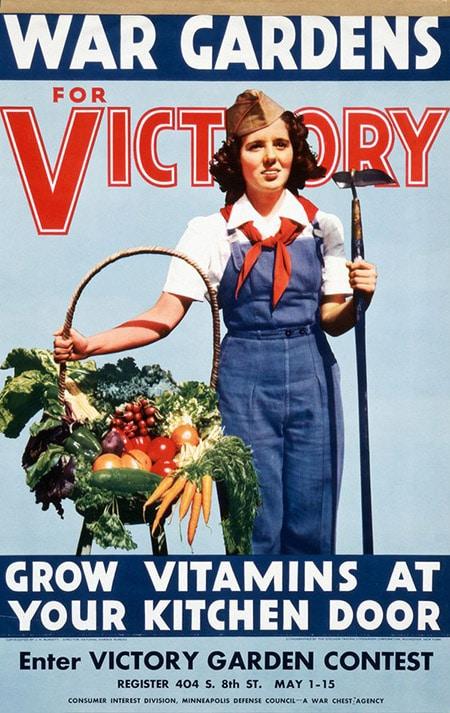 「Dig for victory」,英国政府在二战期间推出的系列海报。