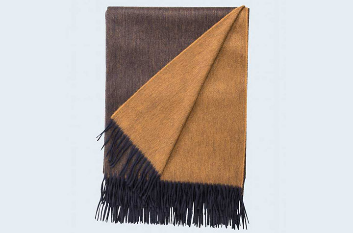 Begg & Co Arran Reversible Cashmere Throw
