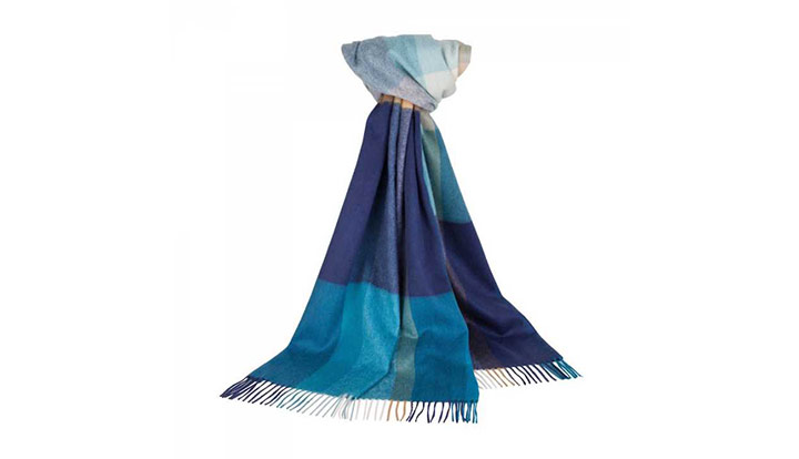 Johnstons of Elgin Cashmere Tonal Spectrum Scarf