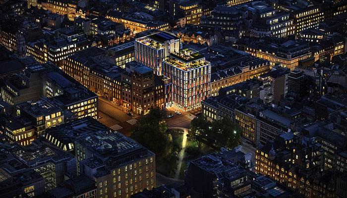 伦敦奢华地区夜景