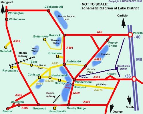 英国湖区地图2