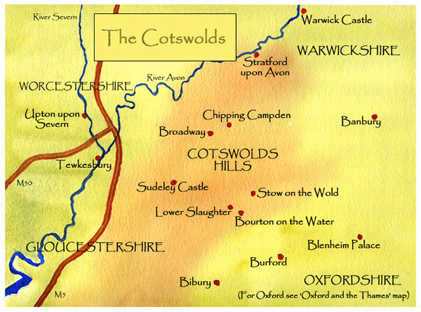 Cotswolds 地图