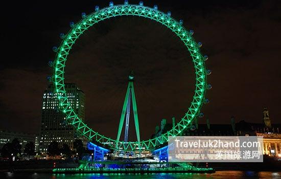伦敦眼的夜景