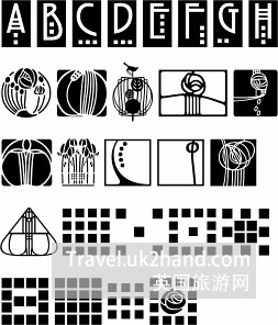 Mackintosh Building设计中所用的图纹