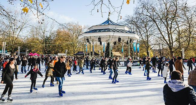 海德公园冬日滑冰场