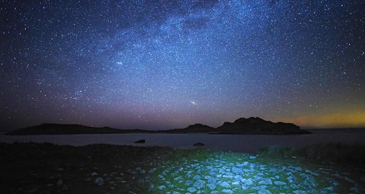 在英国小岛上看星星……
