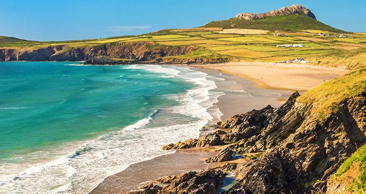 Pembrokeshire Coast 国家公园夏天