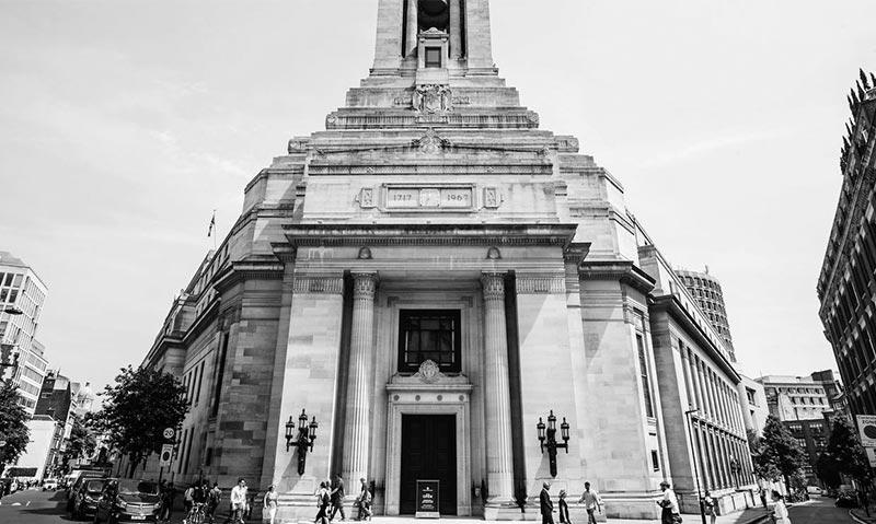 伦敦市中心的共济会大楼