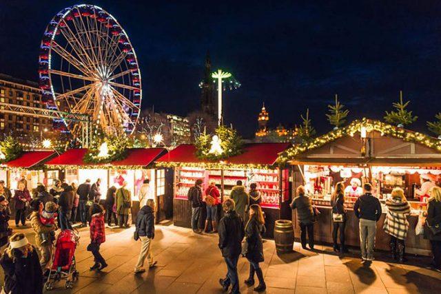 爱丁堡的圣诞集市