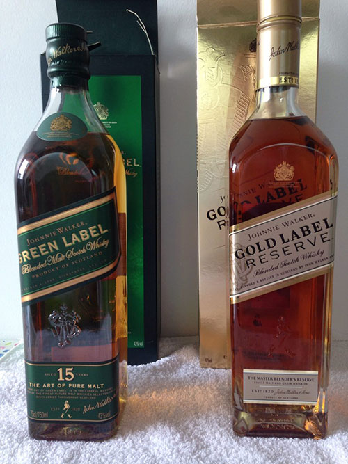 绿方Green Label 和金方Gold Label