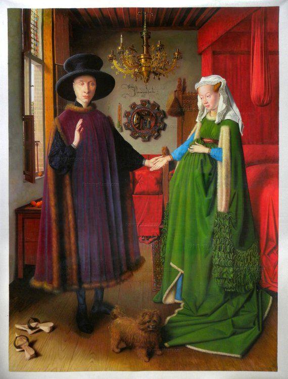 The Arnolfini Portrait 阿诺芬尼夫妇像 现藏于伦敦国家画廊