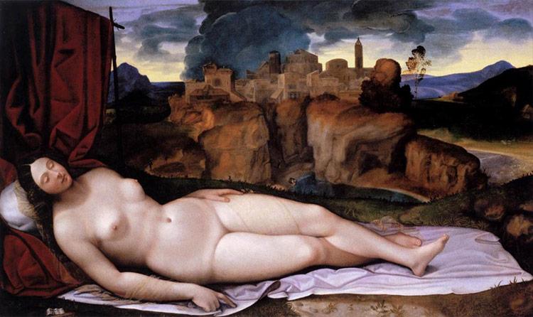 乔尔乔内的《沉睡的维纳斯》,现藏于德国德累斯顿历代大师美术馆