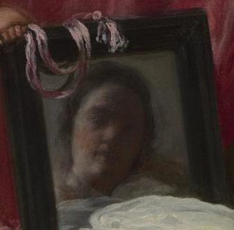 维纳斯在镜中的面部特显