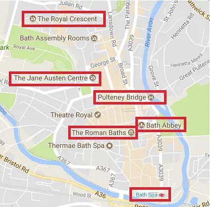 Bath 地图