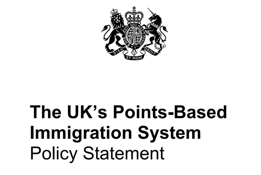 英国积分移民政策