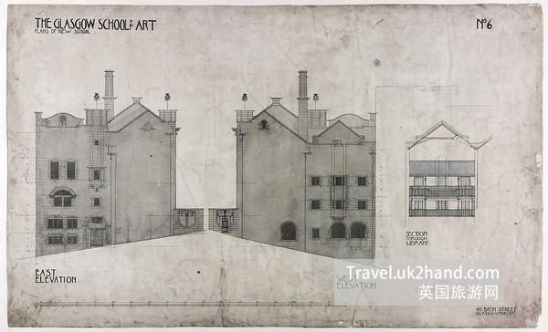 Mackintosh Building设计手稿2
