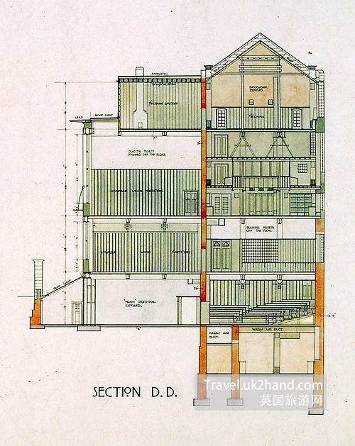 Mackintosh Building设计手稿