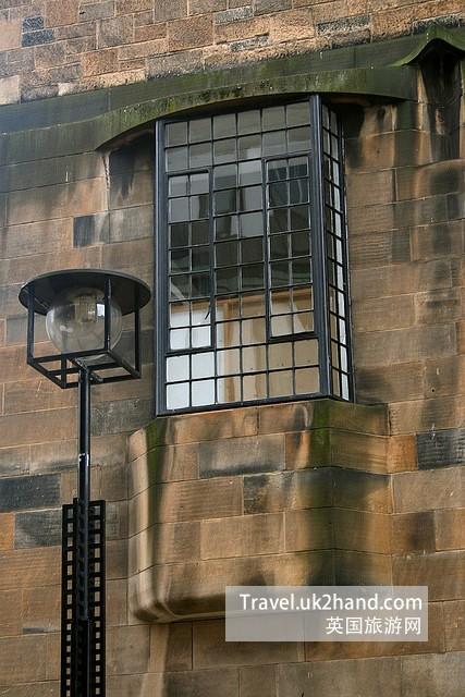 Mackintosh 格拉斯哥美院窗户和路灯的设计